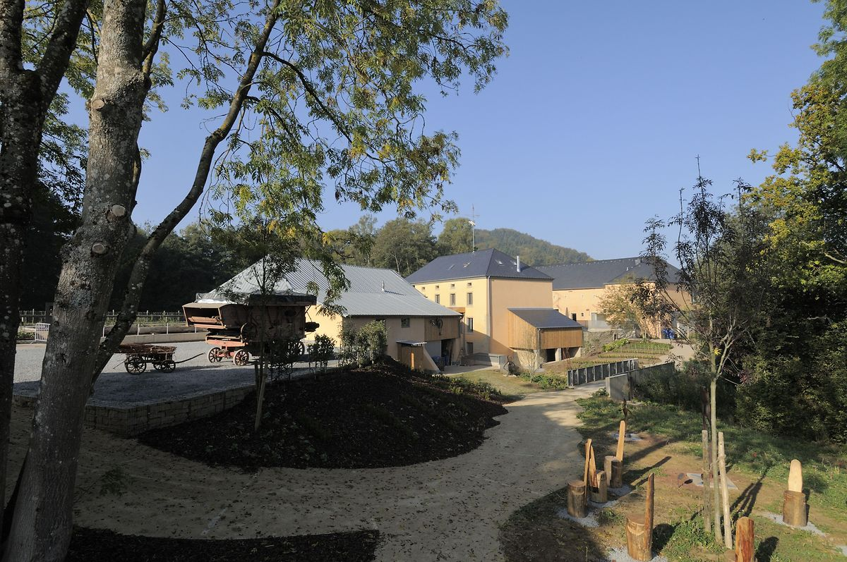 The restored mill at Beckerich has an art gallery and old saw mill, and is the start for many hiking and cycling routes