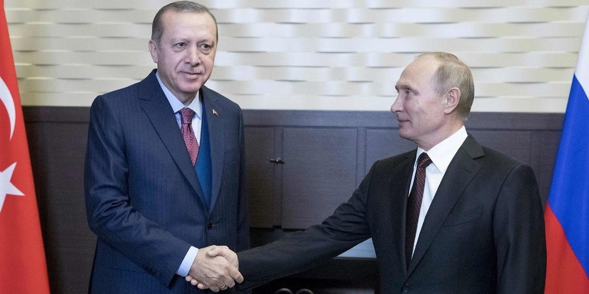 Erdogan hatte eine russisch-amerikanische Erklärung zum Syrienkrieg im Vorfeld seines Besuchs kritisiert.