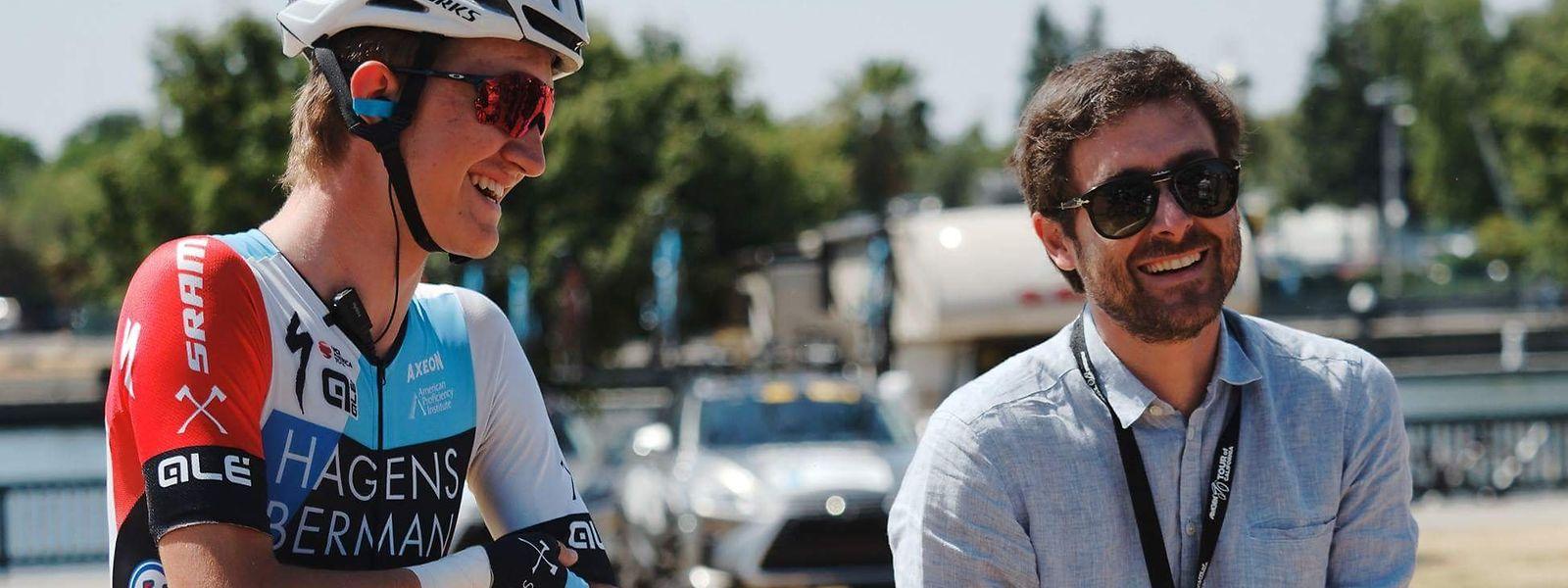 Ken Sommer (r.) fördert und unterstützt gerne junge, talentierte Fahrer.