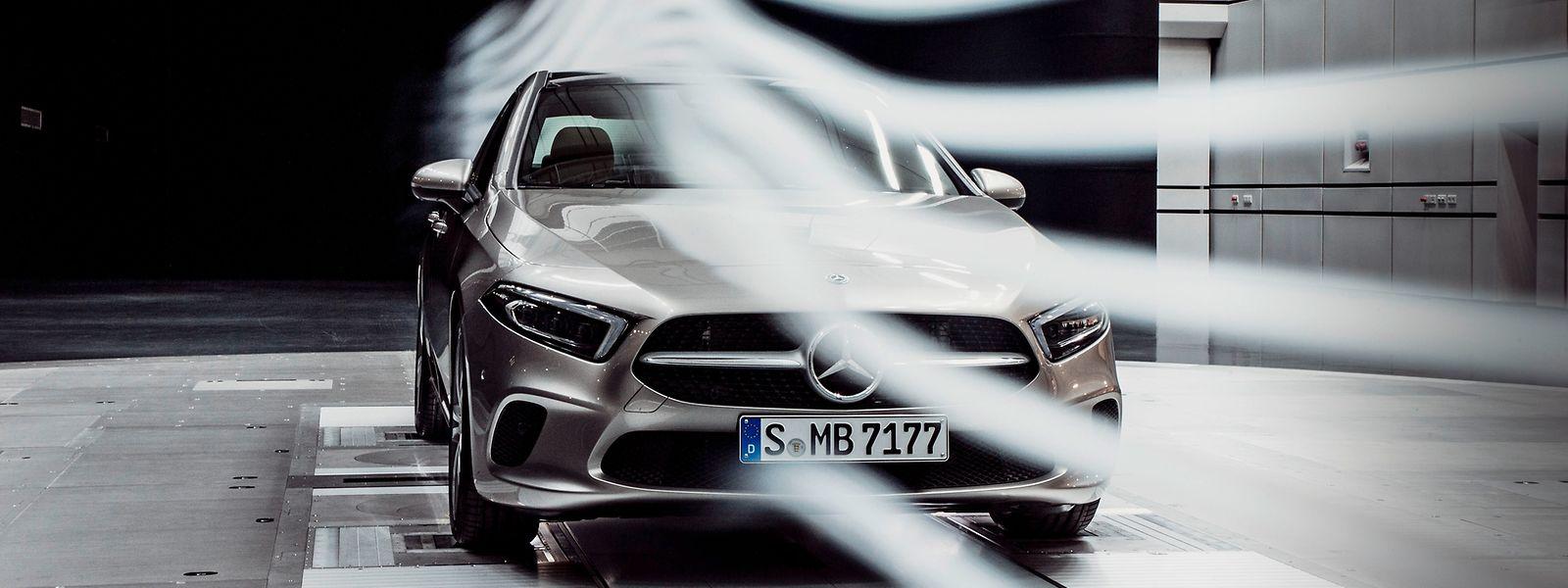 Bessere Aerodynamik für weniger Verbrauch: Die Mercedes A-Klasse Limousine mit einem cw-Wert von 0,22.