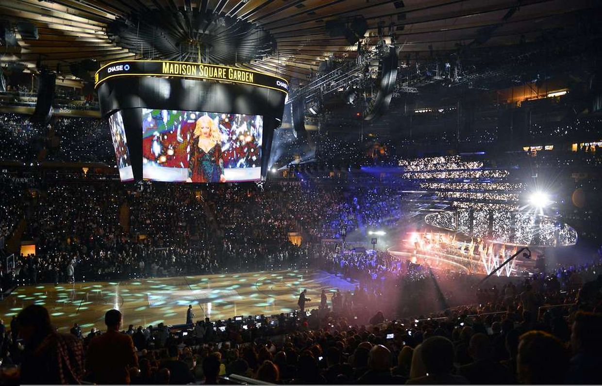 Christina Aguilera a mis le feu au Madison Square Garden de New York.