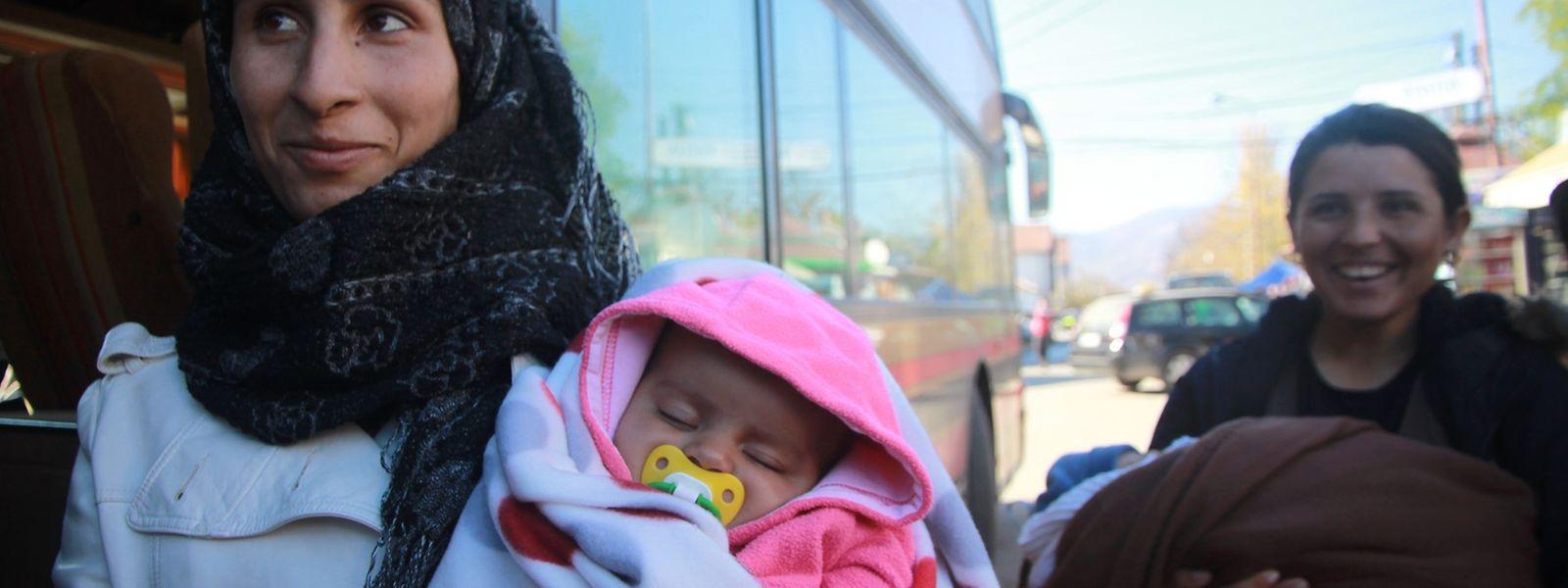 Flüchtlingsschicksal: Die Syrerin Ivo mit ihrer Tochter Angela, benannt nach der deutschen Kanzlerin.