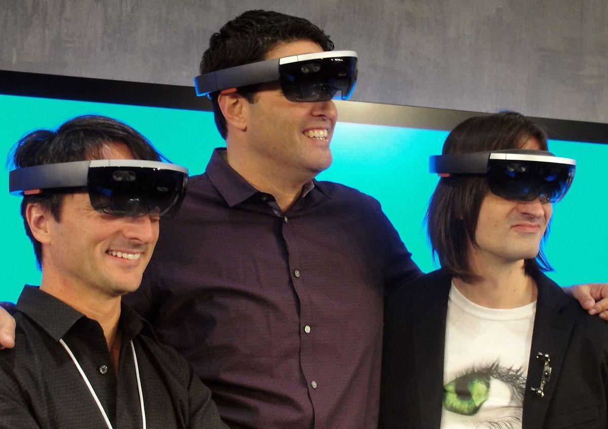 Die Datenbrille von Microsoft sieht futuristisch aus.