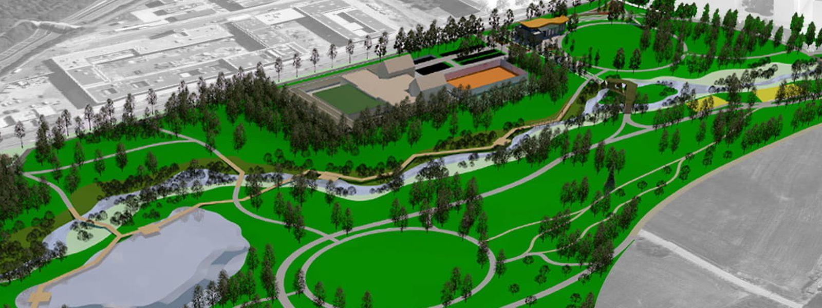 Parmi les nouveautés attendues dans le parc : un étang de 7.000 m2