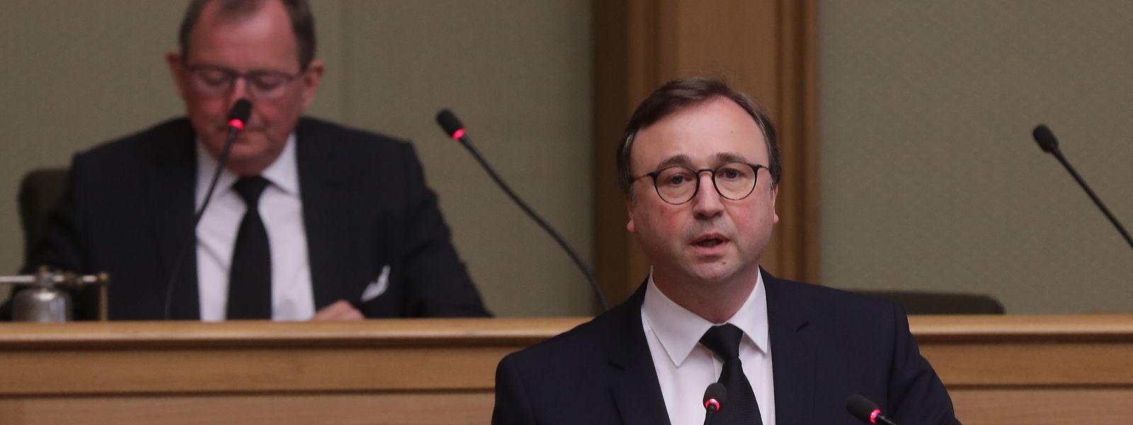 Le député André Bauler (DP) chargé de présenter ce mercredi le texte du budget 2019, qui sera adopté cette semaine.