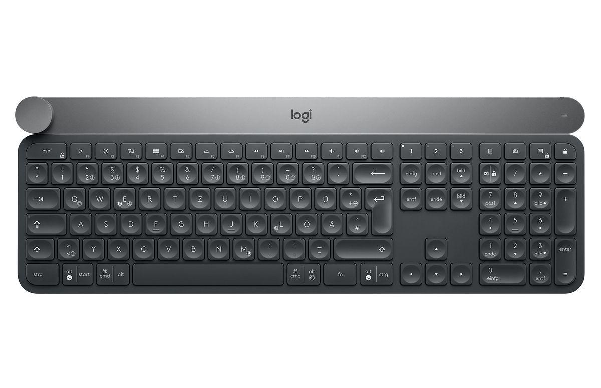 Die ergonomischen Tasten erleichtern lange Sitzungen am PC.
