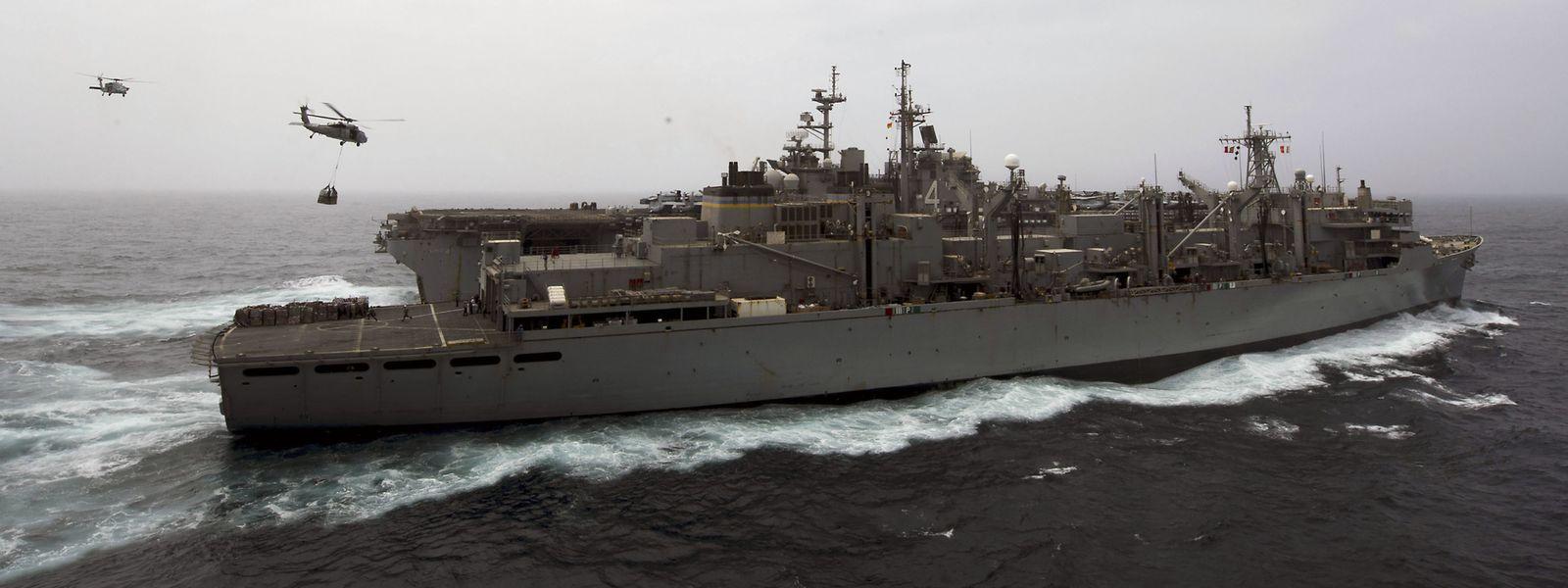 Die USS Boxer, das Schiff, das die Drohne abgeschossen hat.