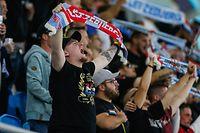 Zuschauer bei der Nationaslhymne / Fussball, Katar WM-Qualifikation Europa 2021-22, Gruppe A, 4. Spieltag / 01.09.2021 /Luxemburg- Aserbaidschan / Stade de Luxembourg / Foto: Yann Hellers