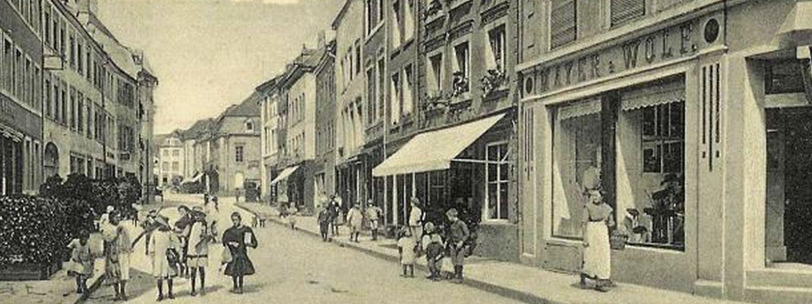 Die jüdischen Einwohner unterhielten mehrere Läden in der Moselstadt, wie hier etwa das Hutgeschäft Mayer-Wolf in der Grand-Rue.