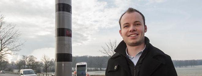 Der Uni-Student Christophe Atten hat die Warn-App LuxRadar entwickelt.