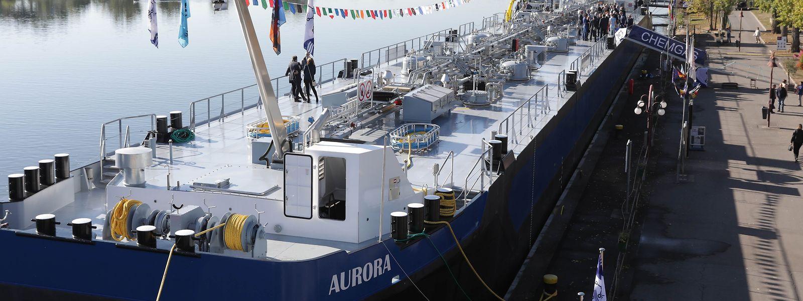 Der Gastankerder der Firma Chemgaz trägt den Namen Aurora.