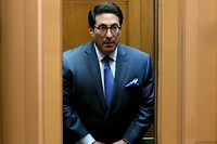 WASHINGTON, DC - JANUARY 28: President Donald Trump's personal lawyer Jay Sekulow rides an elevator while going to the Senate chamber for the Senate impeachment trial at the U.S. Capitol on January 28, 2020 in Washington, DC. President Donald Trump's legal defense team is expected to conclude their arguments today and begin answering written questions from Senators on Wednesday.   Mark Wilson/Getty Images/AFP == FOR NEWSPAPERS, INTERNET, TELCOS & TELEVISION USE ONLY ==