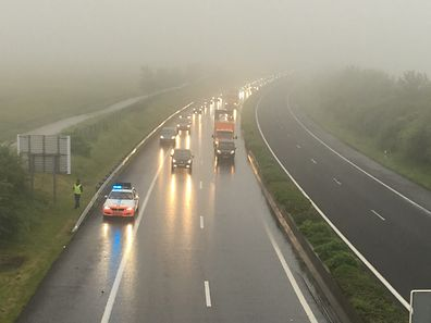 Accident already took place Monday moring on the A13 due to wet roads