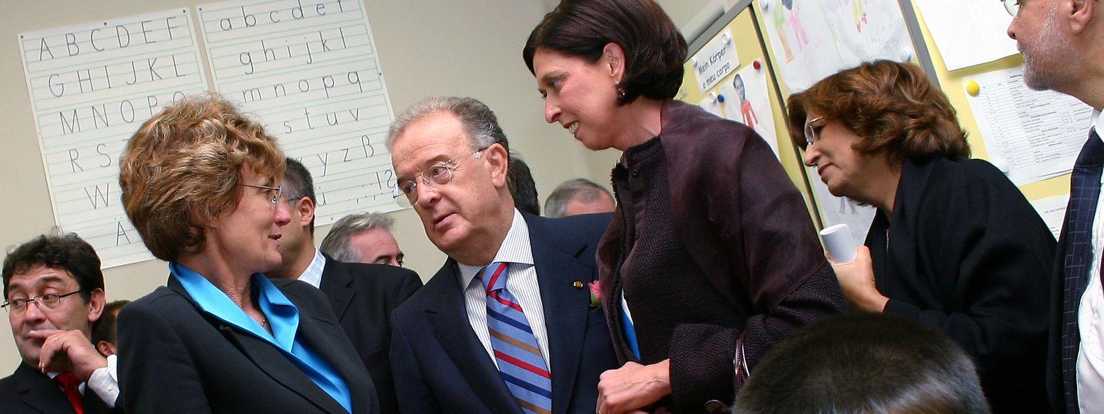 Jorge Sampaio em visita ao Grão-Ducado, em 2004, visitou a escola de Brill, em Esch-sur-Alzette.