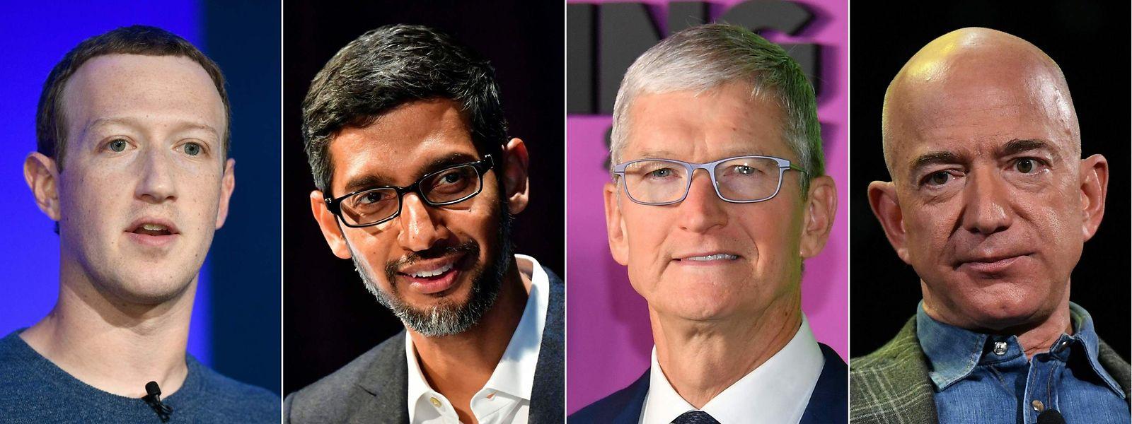 Mark Zuckerberg (Facebook), Sundar Pichai (Google) Tim Cook (Amazon) et Jeff Bezos (Amazon) se défendront devant la commission judiciaire de la Chambre des représentants.