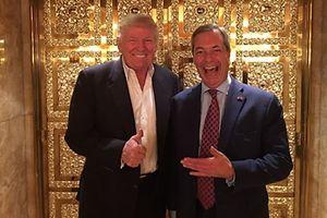 Zwei die sich verstehen: Donald Trump und Nigel Farage im Trump Tower.