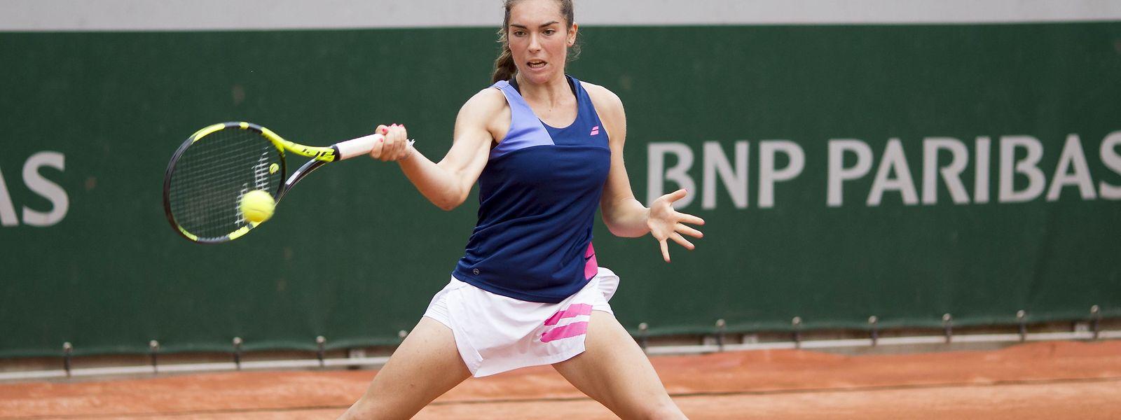 Eleonora Molinaro a le sourire à Roland Garros