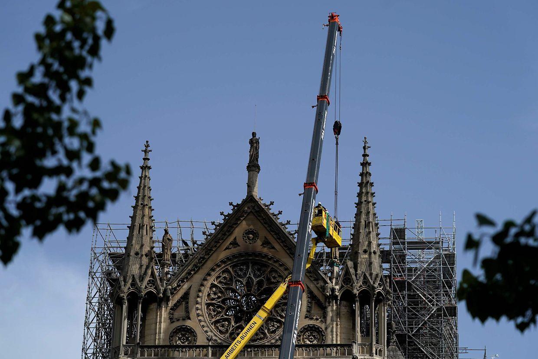 Les photos de Notre-Dame de Paris prises ce lundi 22 avril 2019.