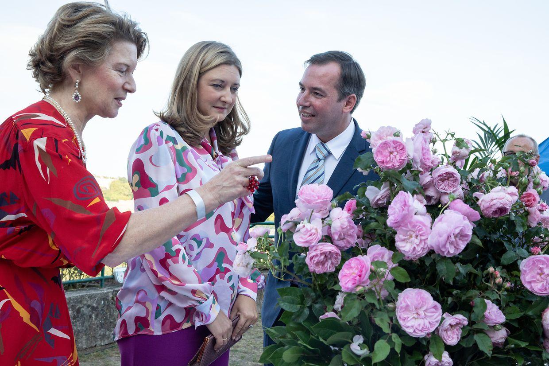 Erbgroßherzog Guillaume und seine Frau Stéphanie im Gespräch mit Claudine Als.