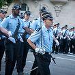 Militärparade Training Polizei Polizeischüler