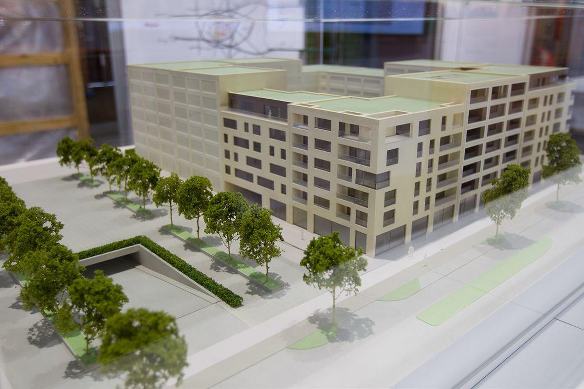 """Mit dem Bau der ersten Wohnungen soll im kommenden Jahr begonnen werden. Interessenten können die Objekte seit dem Auftakt der """"Home and Living Expo"""" erwerben. Insgesamt werden im Ban de Gasperich 120000 Quadratmeter zum Wohnen gebaut."""