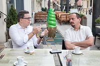 IPO , ITV Sven Clement , Piraten , u. Marc Baum , Dei Lenk , Foto: Guy Jallay/Luxemburger Wort