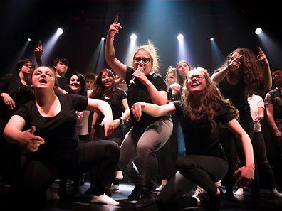 Avant papier: projet Sylvia Carmarda  - répétition générale Looss alles eraus (Rap&Dance Show) / Rockhal Esch Belval / Luxemburg / 24.04.2017 / Foto: Ralph Hermes / Imagify