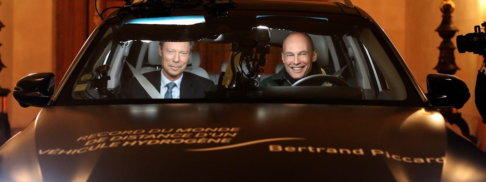Großherzog Henri unternahm eine Spritztour mit Bertrand Piccard.