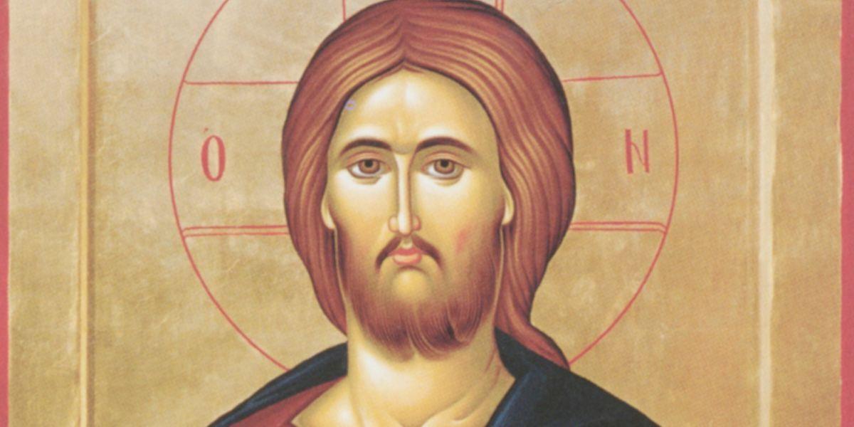 "Jesus Christus, ""Pantokrator"", Prizren/Kosovo (Ikone 1998 - Arbeit der Nonnen von Sokolitza) ."