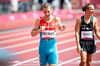 Charel Grethen (1500m) (Leichtathletik, Fuenfter Tag / Olympia, Olympische Spiele, Tokio 2020 / 03.08.2021 / Olympic Stadium, Tokio / Foto: Christian Kemp