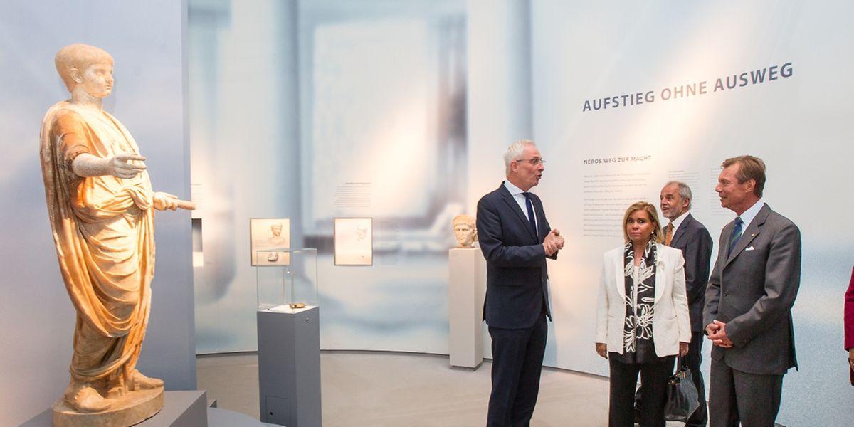 Großherzog Henri und seine Gattin, Maria Teresa, waren für die Sonderausstellungen nach Trier gereist.