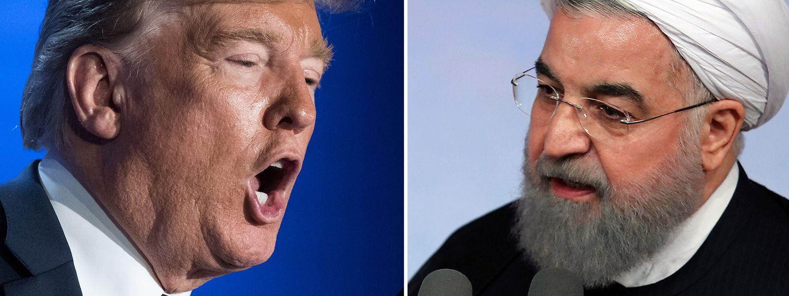 Donald Trump und Hassan Ruhani, Präsident des Iran.