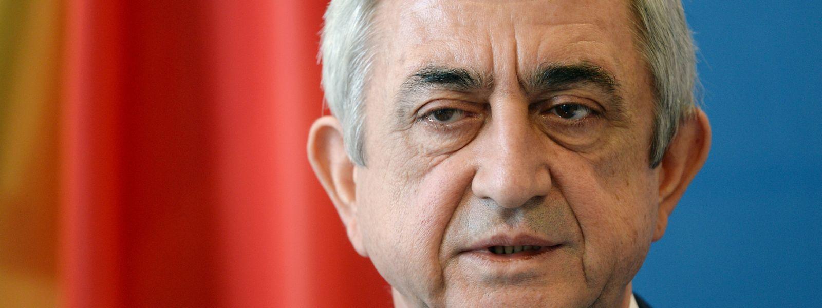 Sersch Sargsjan, Präsident vonArmenien, ist zurückgetreten.