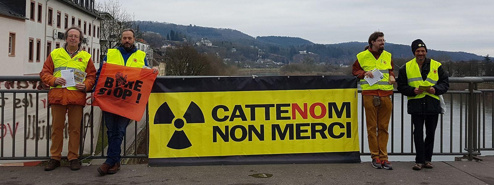 Auch in Trier protestierten Aktivisten gegen Atomkraft