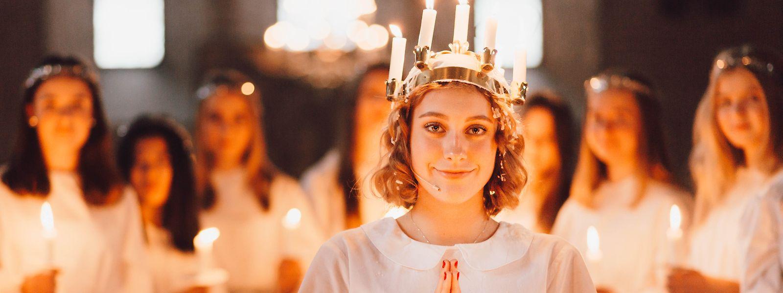 Das Luciafest in Schweden.