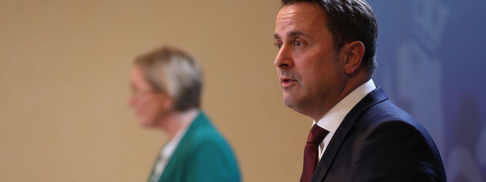Premierminister Xavier Bettel (DP) und Gesundheitsministerin Paulette Lenert (LSAP) stehlen dem grünen Koalitionspartner derzeit weitgehend die Show.