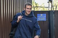 """(FILES) This file photo taken on August 23, 2019 shows Russian opposition leader Alexei Navalny leaving the detention centre in Moscow after serving 30 days in jail. - Russian opposition leader Alexei Navalny's condition is improving and he is able to get out of bed for brief periods, the German hospital treating him said Monday, September 14, 2020. """"The patient has been successfully removed from mechanical ventilation,"""" Berlin's Charite hospital said in a statement. """"He is currently undergoing mobilisation and is able to leave his bed for short periods of time."""" (Photo by Vasily MAXIMOV / AFP)"""