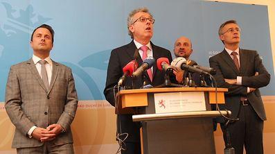 Bettel, Gramegna, Schneider, and Braz hold press conference