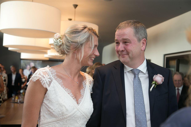 Die Hochzeit von Michel Wolter und Nadine Braconnier im Rathaus in Niederkerschen.