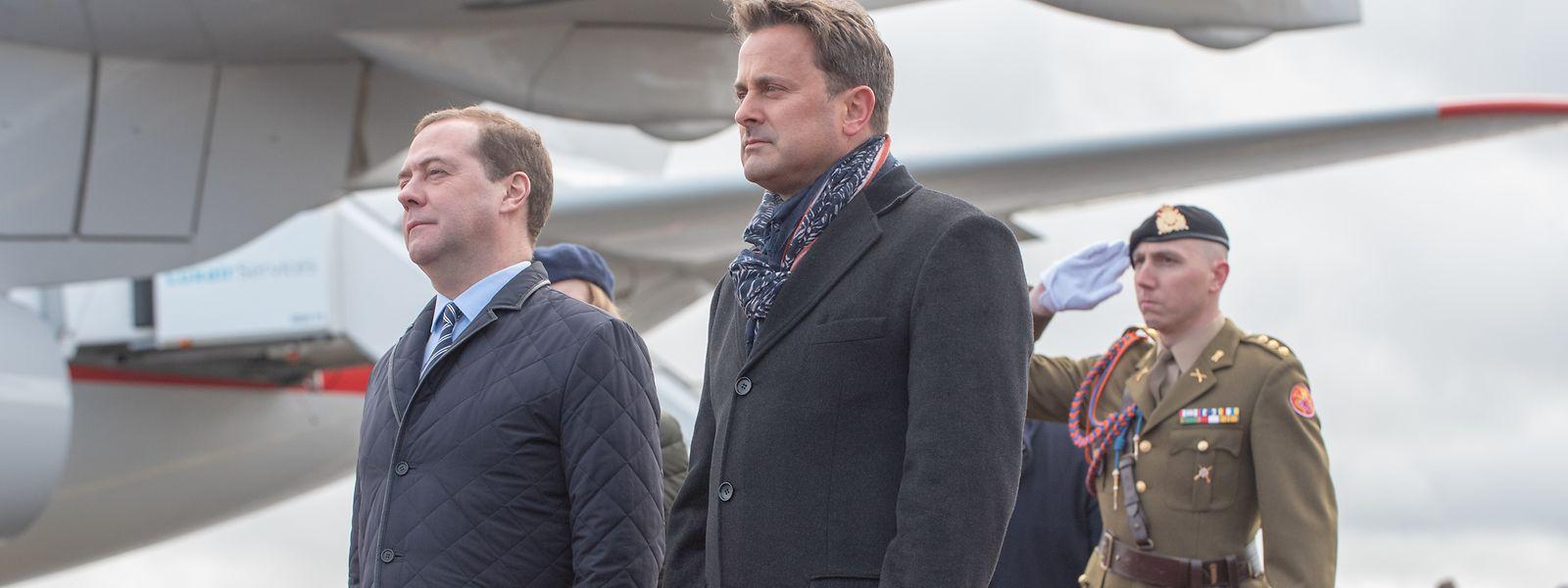 Dimitri Medvedev, Premier ministre de la fédération de Russie et Xavier Bettel, Premier ministre