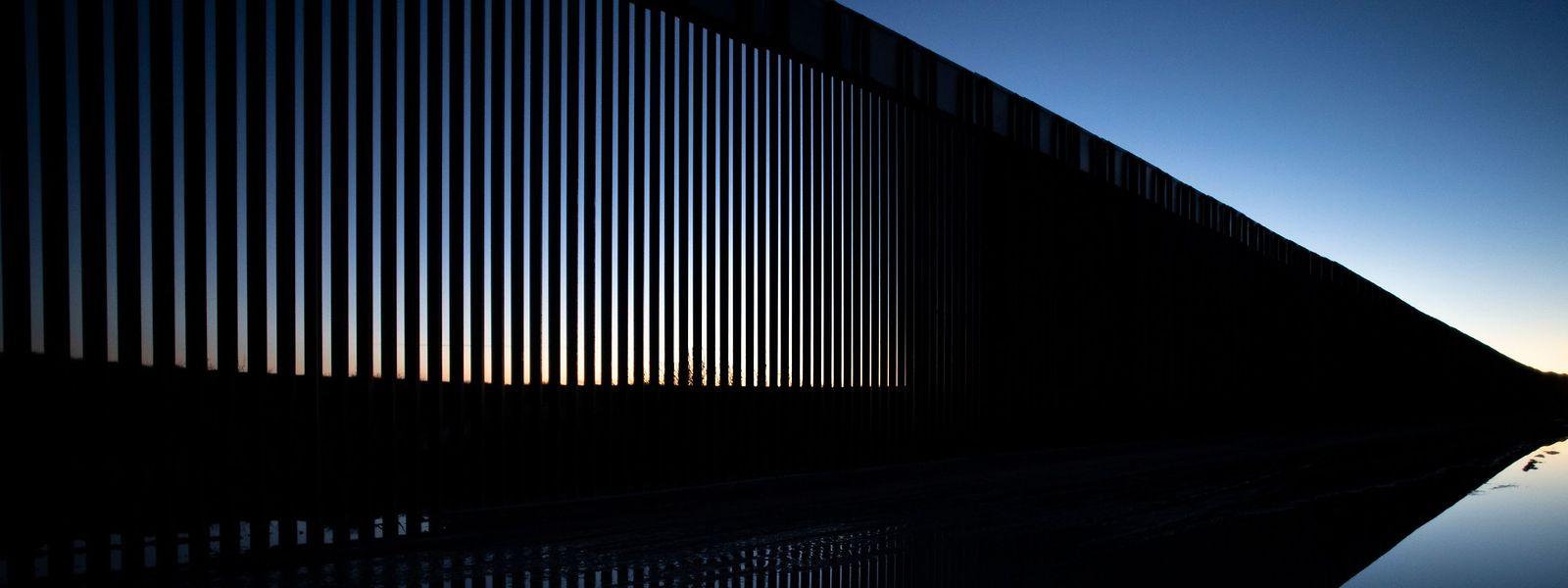 Im Dona Ana County in New Mexico steht bereits ein Teil der Grenzmauer.