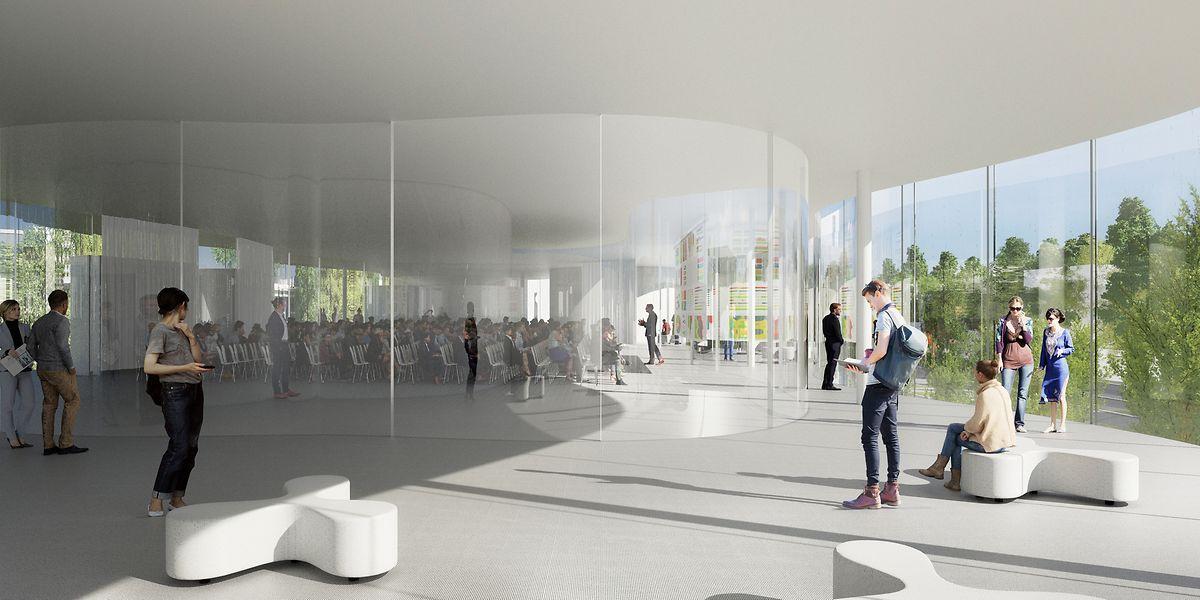 Neben Hör-, Seminar- und Übungssälen sollen auch  Multifunktionsräume, Büros und Café-Einrichtungen im Komplex integriert werden.