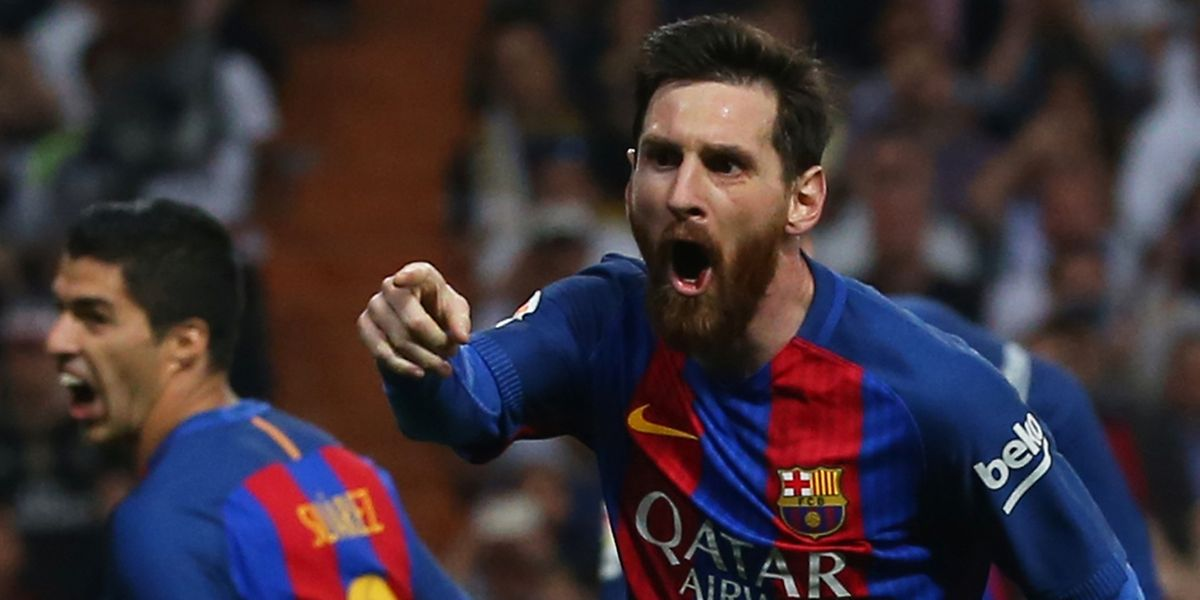 Lionel Messi bisou e marcou o golo do triunfo nos descontos