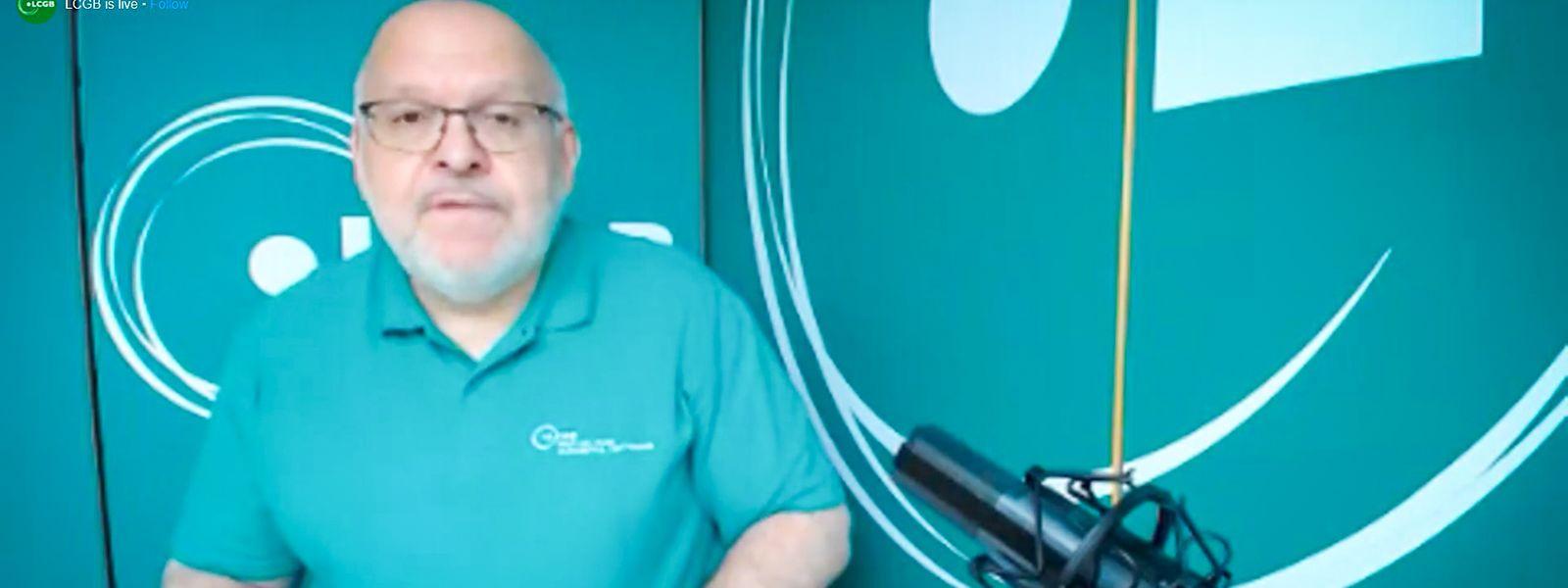 1.-Mai-Feier ohne Feier: Vergangenes Jahr richtete sich LCGB-Präsident Patrick Dury mit einer Videobotschaft an die Gewerkschaftsanhänger.