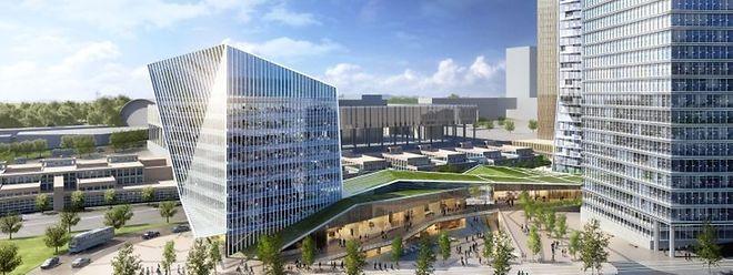 Le nouvel îlot sera construit face à la Cour de Justice européenne.