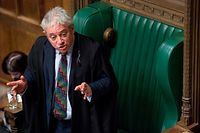 "A handout photograph released by the UK Parliament shows the speaker of the House of Commons, John Bercow gesturing as he speaks to MPs in the House of Commons in London on January 15, 2019, during the debate on the Brexit withdrawal bill. - Parliament is to finally vote today on whether to support or vote against the agreement struck between Prime Minister Theresa May's government and the European Union. (Photo by Jessica TAYLOR / UK PARLIAMENT / AFP) / RESTRICTED TO EDITORIAL USE - NO USE FOR ENTERTAINMENT, SATIRICAL, ADVERTISING PURPOSES - MANDATORY CREDIT "" AFP PHOTO /JESSICA TAYLOR / UK Parliament"""