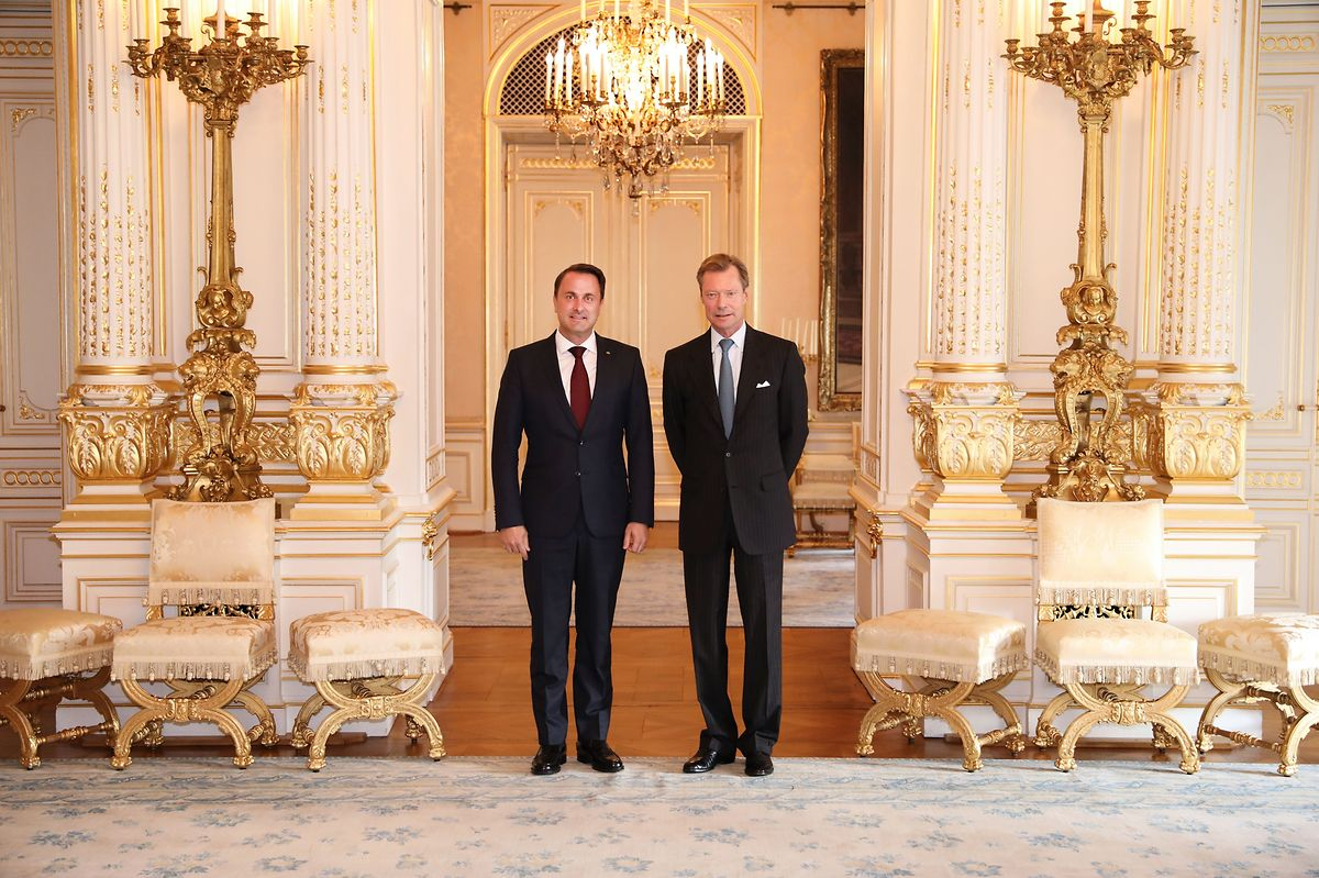 Bettel (left) was appointed by the Grand Duke to lead the negotiations Photo: Cour grand-ducale