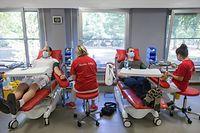 Lokales, Reportage Blutspendezentrale: Welchen Einfluss hatte Corona?, Don du sang, Foto:Lex Kleren/Luxemburger Wort