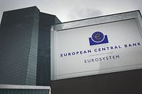 "(FILES) This file photo taken on January 24, 2019 shows the headquarters of the European Central Bank (ECB) in Frankfurt am Main, western Germany. - European Central Bank policymakers kept interest rates at their historic lows on March 7, 2019 and said they would remain there ""at least through the end of 2019"". (Photo by Daniel ROLAND / AFP)"