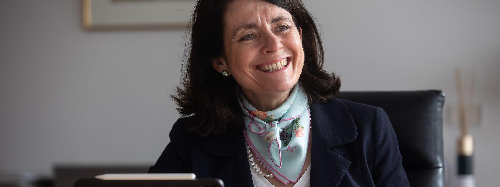Béatrice Belorgey a le sourire et pour cause. La présidente du comité exécutif a présenté jeudi les (bons) résultats de la banque pour l'année 2020.